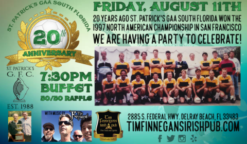 GAA St Patrick's South Florida 20 Year Reunion