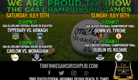 Bars showing GAA Championship Games