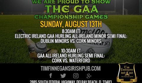 GAA Championship Games Shown at Tim Finnegan's