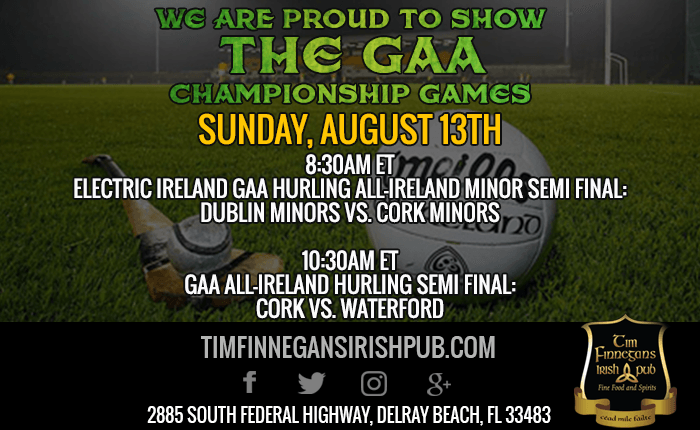 GAA Championship Games Shown at Tim Finnegan's