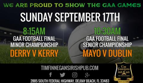 Showing GAA Games in Delray Beach, FL