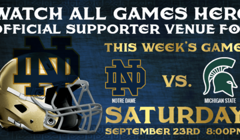 Watch Notre Dame Football at Tim Finnegan's in Delray Beach, FL