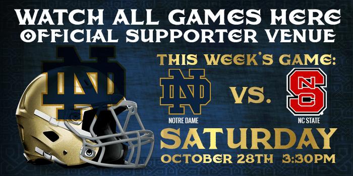 Watch Notre Dame Football at Tim Finnegans Irish Pub