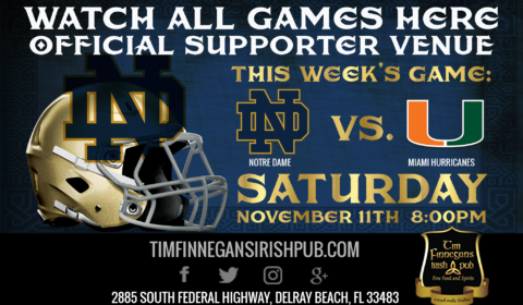 Watch Notre Dame Football at Tim Finnegans